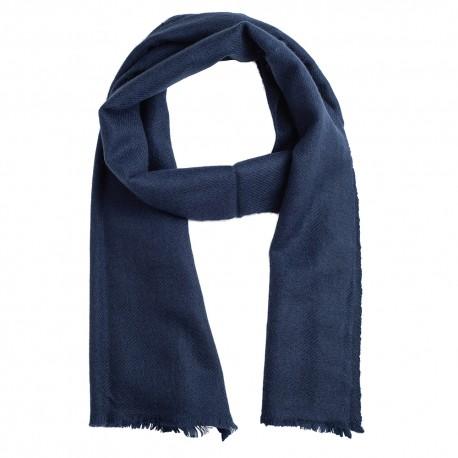Liten kashmir halsduk i marinblå