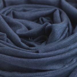Marinblå pashminasjal i kashmir och siden