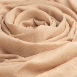 Sandfärgad pashminasjal i kashmir och siden