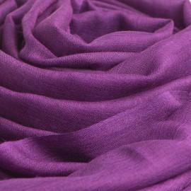 Mörk lila pashminasjal i kashmir och siden