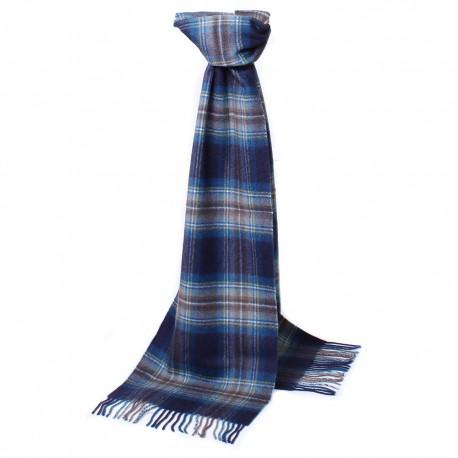 Skotskrutig scarf i blå nyanser