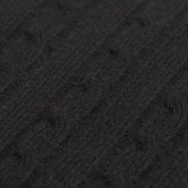 Svart kabelstickad cashmere filt