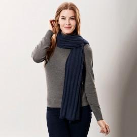 Marinblå kashmir scarf