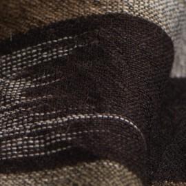 Ikat vävd kashmir scarf i grå färger