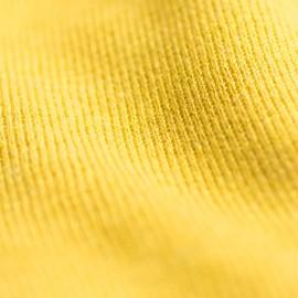 Gul stickad sjal i silke / kashmir