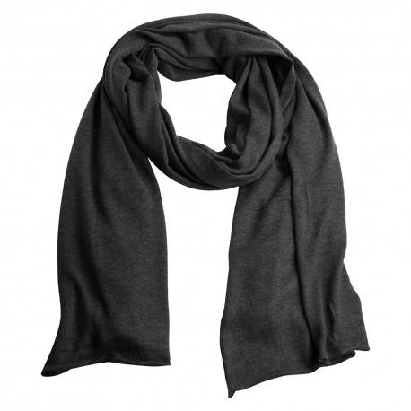 Mörkgrå stickad sjal i silke / kashmir