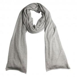 Ljusgrå stickad sjal i silke / kashmir