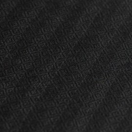 Randig kashmir halsduk i svart och antracit