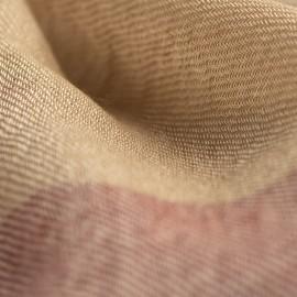 Rutig kashmir halsduk i gyllene och röd