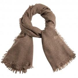 Kashmir halsduk i naturbrun melange