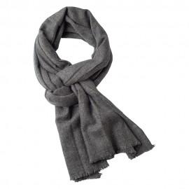 Kashmir scarf i mörk naturgrå melange