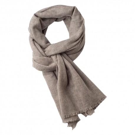 Kashmir scarf i ljus naturgrå melange