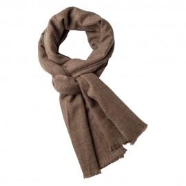 Kashmir scarf i naturbrun melange