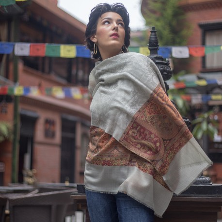 Paisley scarf i ren kashmir