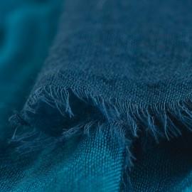 Storrutig kashmir sjal i petrolblå och navy