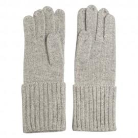 Grå stickade kashmir handskar