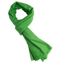 Gräsgrön kypertvävd pashmina halsduk