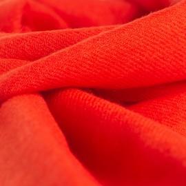 Cinnoberröd kypertvävd pashmina halsduk