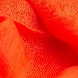 Korallröd pashmina sjal i 2-trädigt kypert
