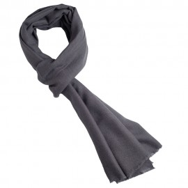 Mörkgrå kypertvävd pashmina sjal