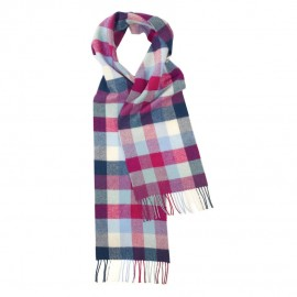 Rutiga scarf i pastellfärger