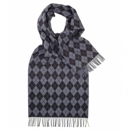 Halsduk med blå / grå harlekinmönster