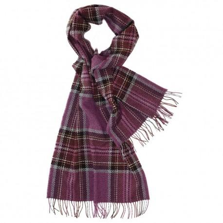 Stor violett skotsk halsduk
