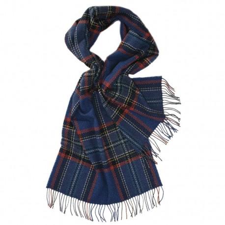 Stor blå skotsk halsduk