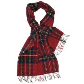 Stor röd skotsk halsduk