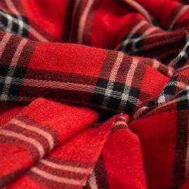Röd Scotch scarf i kashmir och siden