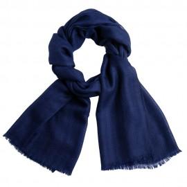 Randig kashmirhalsduk i indigo och marinblå