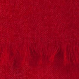 Mörkröd pashmina sjal i tuskaftbindning