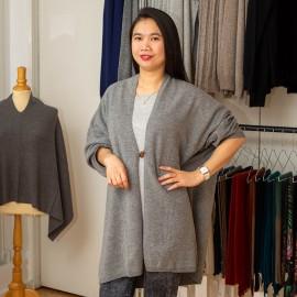Grå kimono i läcker merino / kashmirstick