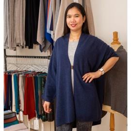 Indigo kimono i läcker merino / kashmirstick
