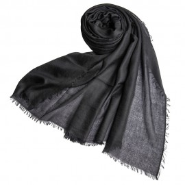 Stor svart kashmirsjal 200 x 140 cm