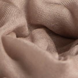 Stor gråbrun kashmir sjal 200 x 140 cm