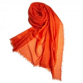Stor orange kashmirsjal 200 x 140 cm