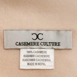 Beige pashmina halsduk i tuskaftbindning