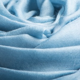 Stor duvblå kashmir sjal 200 x 140 cm