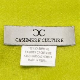 Limegrön pashmina sjal i tuskaftbindning