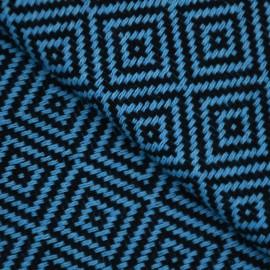 Mörkblå hammamhandduk i diamantmönster