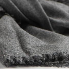 Kashmirhalsduk i mörkgrå melange