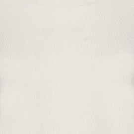 Benvit tröja i silke / kashmir med rund hals