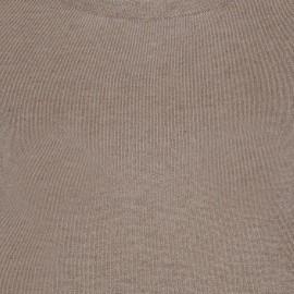 Taupegrå tröja i silke / kashmir med rund hals