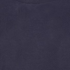 Marinblå tröja i silke / kashmir med rund hals