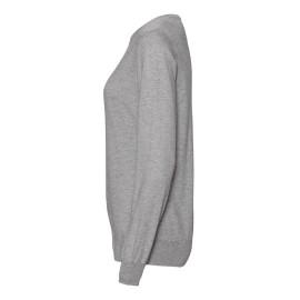 Ljusgrå tröja i silke / kashmir med rund hals