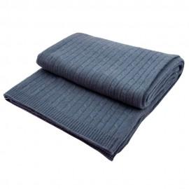 Duvblå filt i ren kashmir