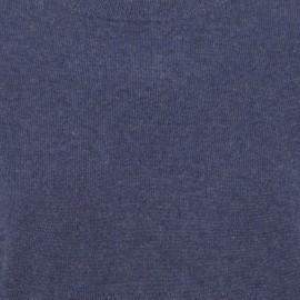 Oversize kashmirtröja i indigo