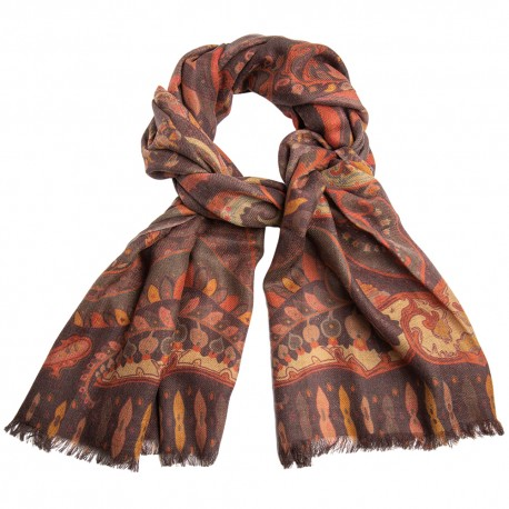 Paisley halsduk i jordtoner