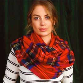 Stor skotskrutig scarf i röd
